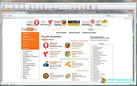 Скриншот программы FastStone Capture для Windows 7