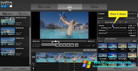 Скриншот программы GoPro Studio для Windows 7
