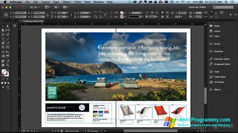 Скриншот программы Adobe InDesign для Windows 7