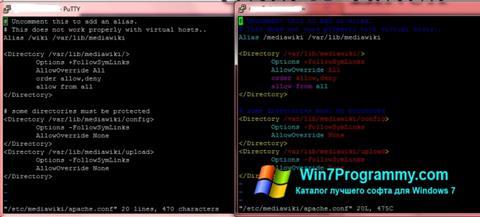Скриншот программы PuTTY для Windows 7