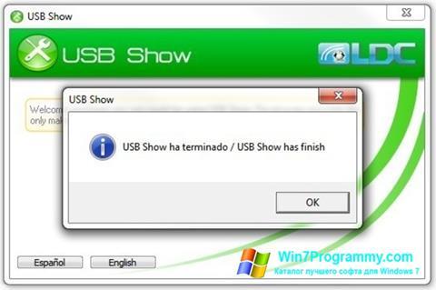 Скриншот программы USB Show для Windows 7