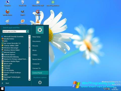 Скриншот программы ViStart для Windows 7