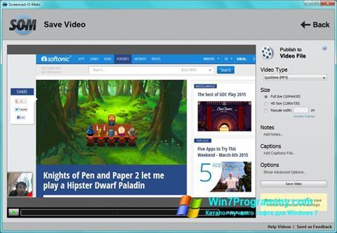 Скриншот программы Screencast-O-Matic для Windows 7
