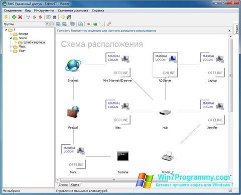 Скриншот программы Remote Manipulator System для Windows 7