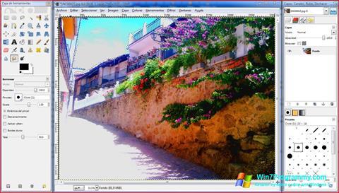 Скриншот программы GIMP для Windows 7