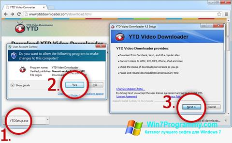 Скриншот программы YTD Video Downloader для Windows 7