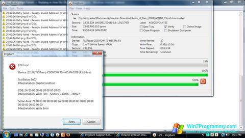 Скриншот программы ImgBurn для Windows 7