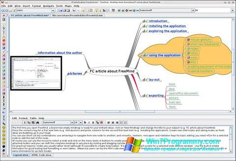 Скриншот программы FreeMind для Windows 7