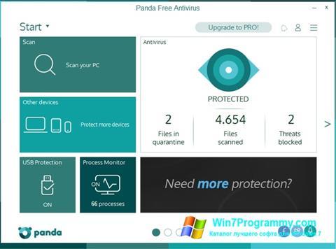 Скриншот программы Panda для Windows 7