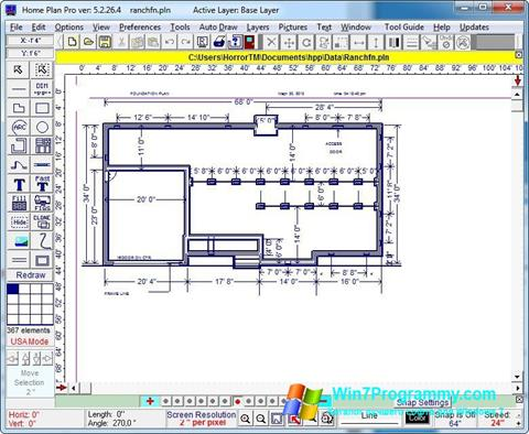 Скриншот программы Home Plan Pro для Windows 7