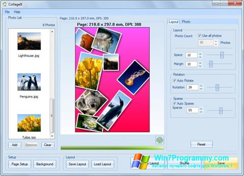 Скриншот программы CollageIt для Windows 7