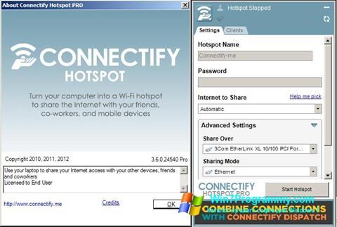 Скриншот программы Connectify Hotspot Pro для Windows 7