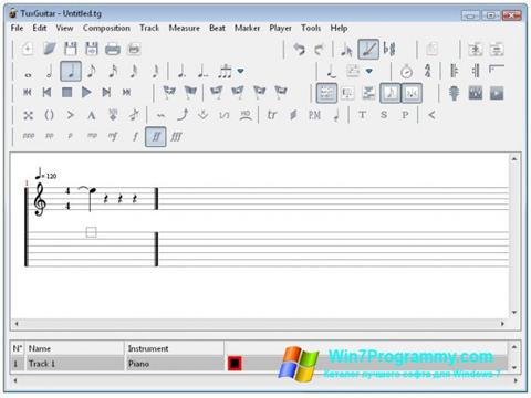 Скриншот программы TuxGuitar для Windows 7