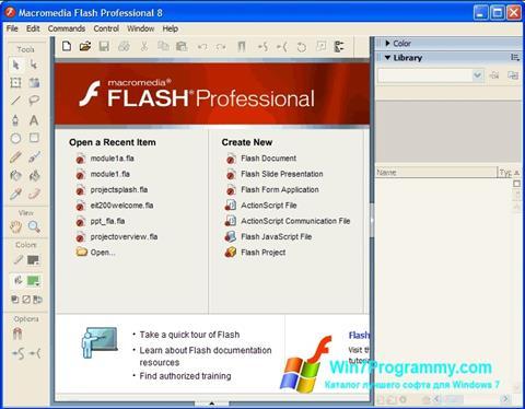 Скриншот программы Macromedia Flash Player для Windows 7