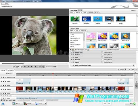 Скриншот программы Nero Vision для Windows 7