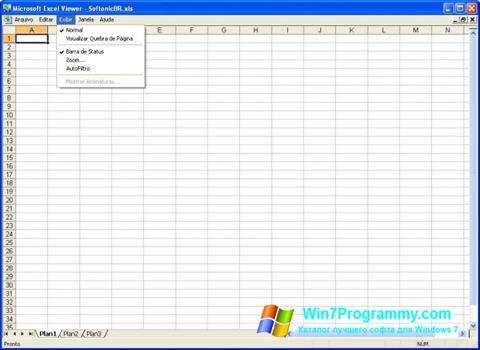 Скриншот программы Excel Viewer для Windows 7