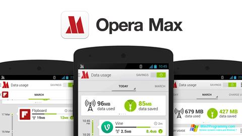 Скриншот программы Opera Max для Windows 7