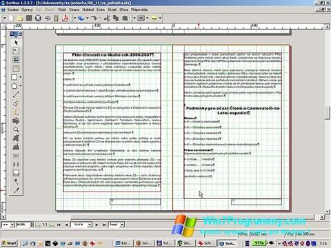 Скриншот программы Scribus для Windows 7