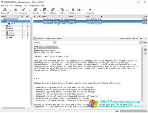 Скриншот программы Claws Mail для Windows 7
