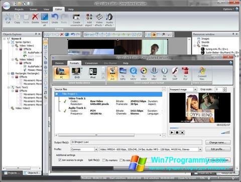 Скриншот программы Free Video Editor для Windows 7