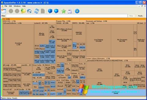 Скриншот программы SpaceSniffer для Windows 7