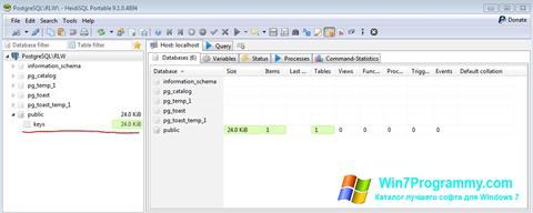 Скриншот программы HeidiSQL для Windows 7