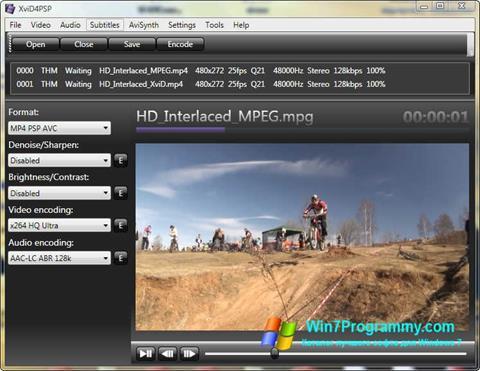 Скриншот программы XviD4PSP для Windows 7