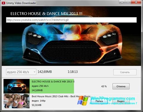 Скриншот программы Ummy Video Downloader для Windows 7