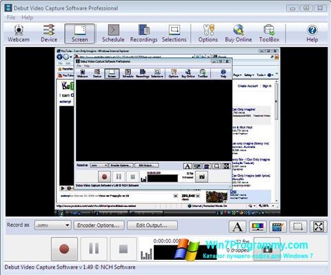 Скриншот программы Debut Video Capture для Windows 7
