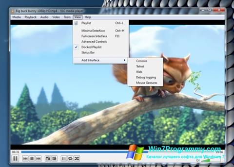 Скриншот программы VLC Media Player для Windows 7