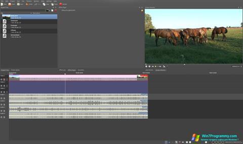 Скриншот программы Kdenlive для Windows 7