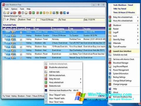 Скриншот программы Auto ShutDown для Windows 7