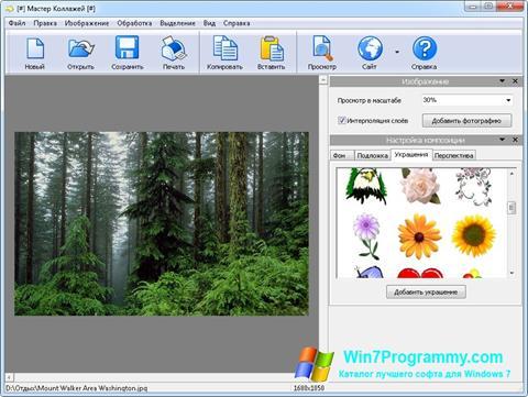 Скриншот программы Мастер Коллажей для Windows 7