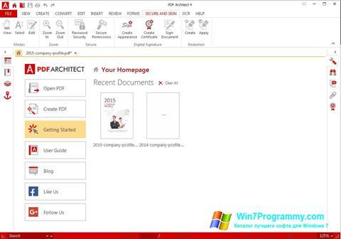Скриншот программы PDF Architect для Windows 7