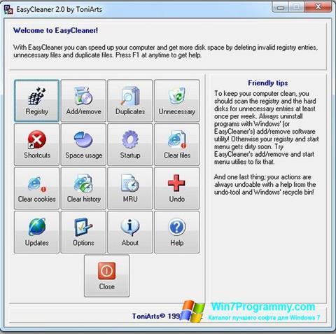 Скриншот программы EasyCleaner для Windows 7