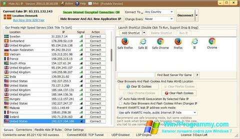 Скриншот программы Hide ALL IP для Windows 7