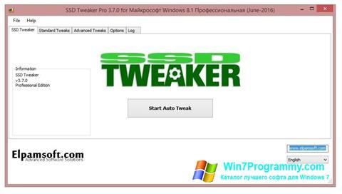 Скриншот программы SSD Tweaker для Windows 7