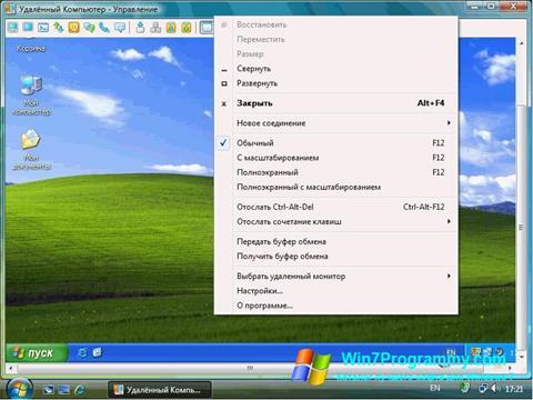 Скриншот программы Radmin для Windows 7