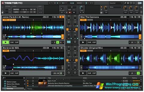 Скриншот программы Traktor PRO для Windows 7