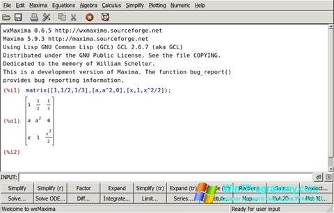 Скриншот программы Maxima для Windows 7