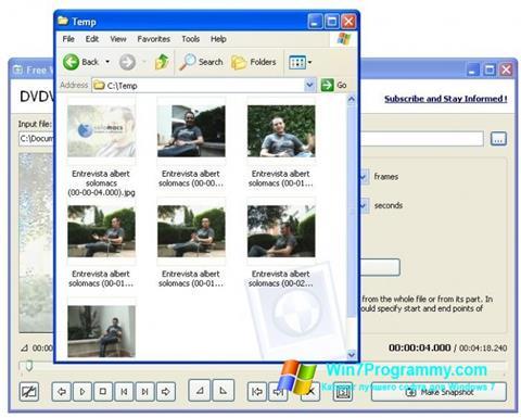 Скриншот программы Free Video to JPG Converter для Windows 7