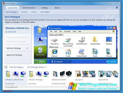 Скриншот программы IconPackager для Windows 7