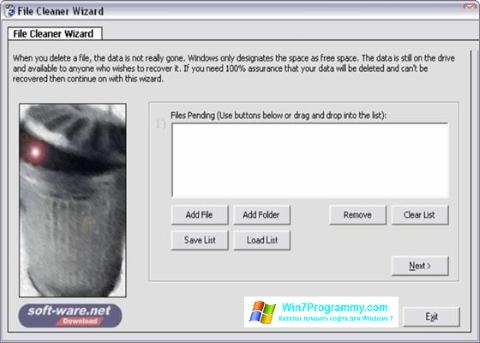 Скриншот программы Sure Delete для Windows 7