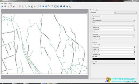 Скриншот программы QGIS для Windows 7