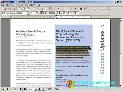 Скриншот программы Infix PDF Editor для Windows 7
