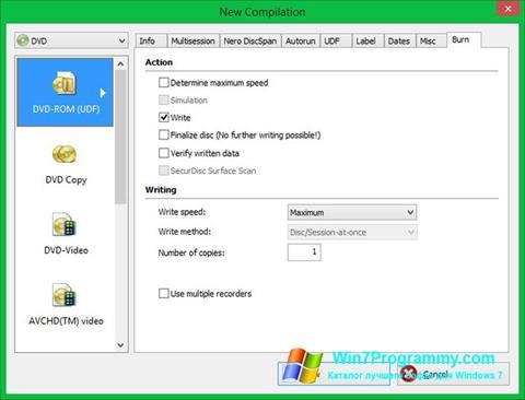 Скриншот программы Nero Image Drive для Windows 7