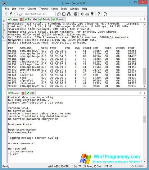 Скриншот программы SecureCRT для Windows 7