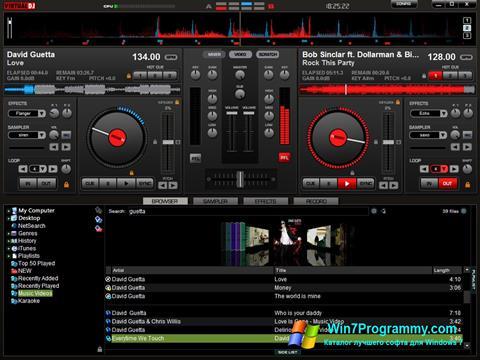 Скриншот программы Virtual DJ Pro для Windows 7