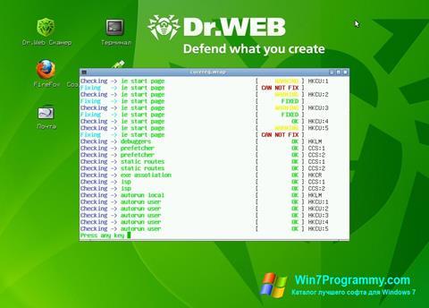 Скриншот программы Dr.Web LiveCD для Windows 7