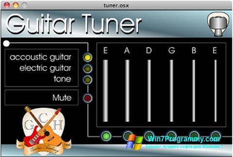 Скриншот программы Guitar Tuner для Windows 7